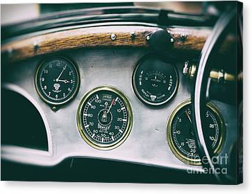 Speedometer Canvas Print - Vintage Bentley Dashboard by Tim Gainey
