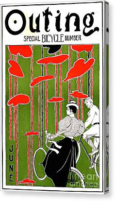 Canvas Print featuring the photograph Vintage Bicycle Issue 1896 by Padre Art