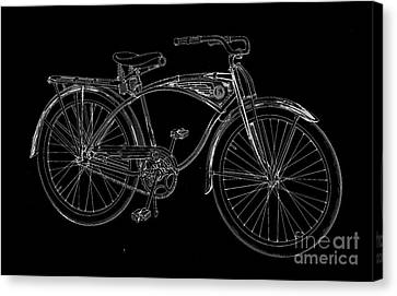 Vintage Bicycle Tee Canvas Print by Edward Fielding