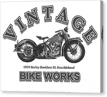 Robert Morrissey Canvas Print - Vintage Bike Works 1939 Harley Davidson El Knucklehead by Robert Morrissey