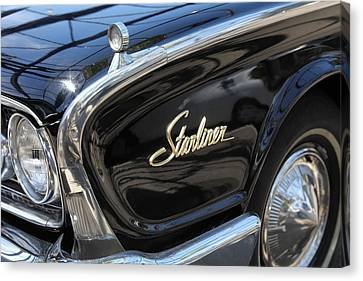 Vintage Black Ford Starliner . 5d16714 Canvas Print by Wingsdomain Art and Photography