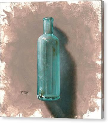 Vintage Blue Bottle Canvas Print by Timothy Jones