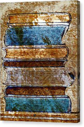 Vintage Book Stack Canvas Print by Frank Tschakert