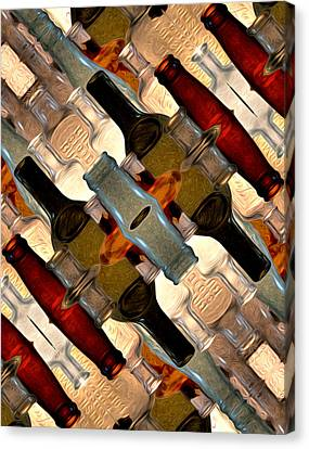 Vintage Bottles Abstract Canvas Print by Phil Perkins
