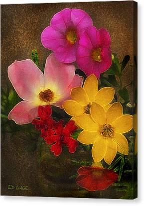 Vintage Bouquet Canvas Print by Ed Gage