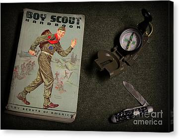 Vintage Boy Scouts Canvas Print