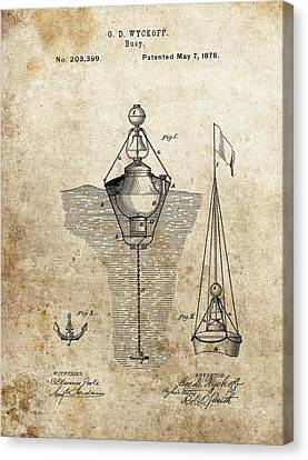 Vintage Buoy Patent Canvas Print by Dan Sproul