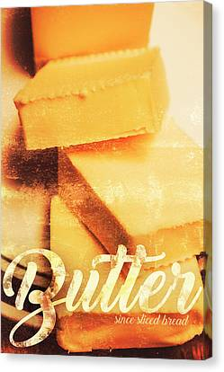 Vintage Butter Advertising. Kitchen Art Canvas Print by Jorgo Photography - Wall Art Gallery