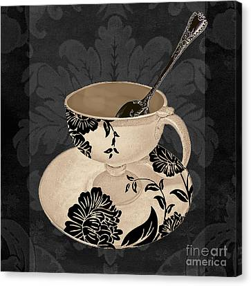 Vintage Cafe II Canvas Print by Mindy Sommers