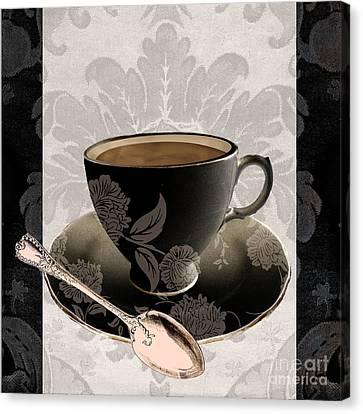 Vintage Cafe IIi Canvas Print by Mindy Sommers