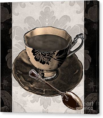 Vintage Cafe Iv Canvas Print by Mindy Sommers
