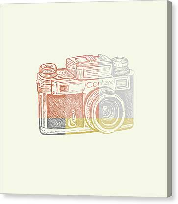 Vintage Camera 2 Canvas Print by Brandi Fitzgerald
