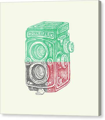 Vintage Camera Color Canvas Print by Brandi Fitzgerald