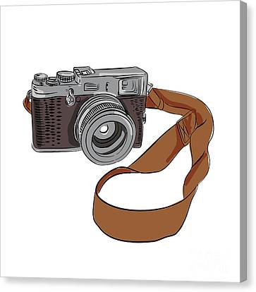 Vintage Camera Drawing Isolated Canvas Print