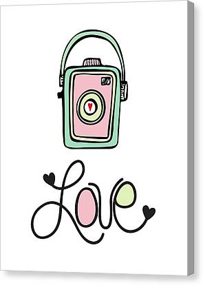 Vintage Camera Love Canvas Print by Colleen VT