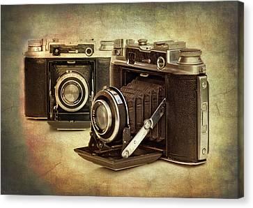 Vintage Cameras Canvas Print by Meirion Matthias