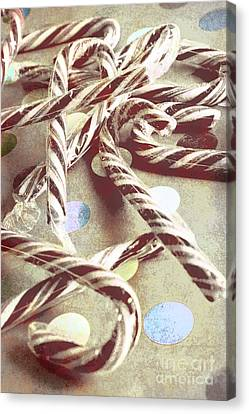 Vintage Candy Canes Canvas Print