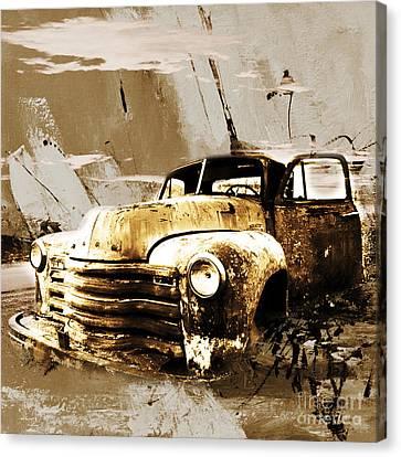 Vintage Car Canvas Print by Gull G