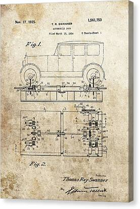 Vintage Car Jack Patent  Canvas Print by Dan Sproul