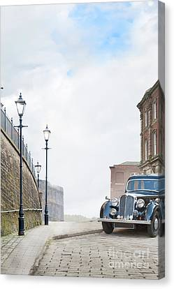 Canvas Print featuring the photograph Vintage Car Parked On The Street by Lee Avison