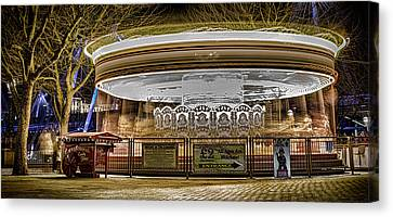 Vintage Carousel Canvas Print by Martin Newman
