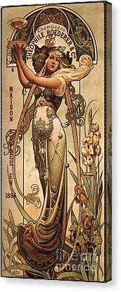 Vintage Champagne Ad Canvas Print by Mindy Sommers