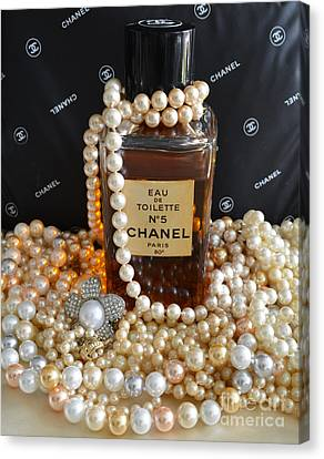 Vintage Chanel No 5  Canvas Print by To-Tam Gerwe