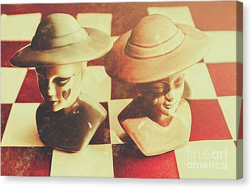 Vintage Chess Piece Monarch Canvas Print by Jorgo Photography - Wall Art Gallery