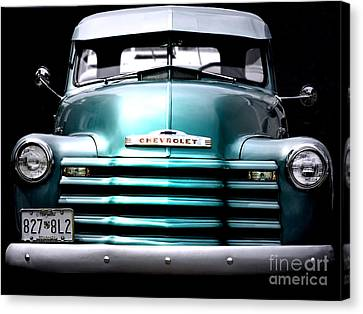 Vintage Chevy 3100 Pickup Truck Canvas Print by Steven Digman