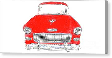 Vintage Chevy Painting Mug Canvas Print by Edward Fielding