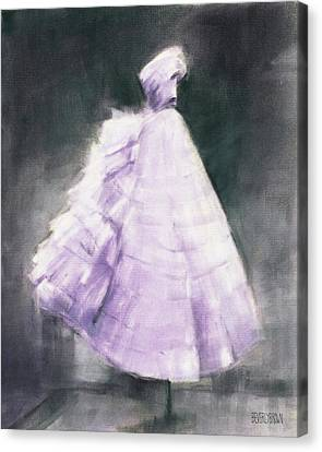 Vintage Chic Lavender And Gray Canvas Print