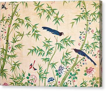 Florid Canvas Print - Vintage Chinese Wallpaper Design by Chinese School