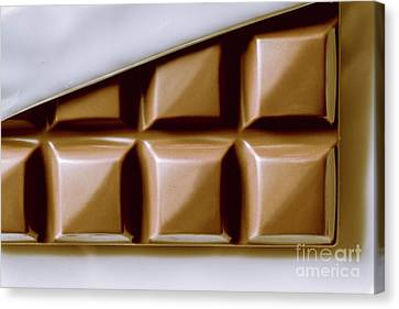 Vintage Chocolate Block Macro Canvas Print by Jorgo Photography - Wall Art Gallery