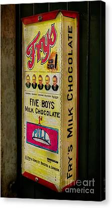 Vintage Chocolate Vending Canvas Print by Adrian Evans