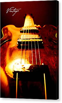 Gibson Guitar Canvas Print - Vintage by Christopher Gaston