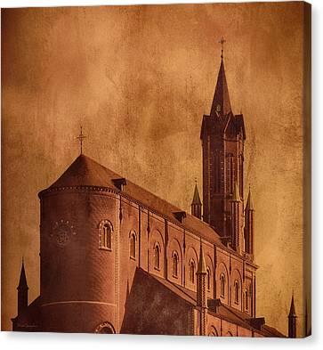 Vintage Church Canvas Print by Wim Lanclus
