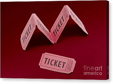 Vintage Cinema Movie Ticket Canvas Print by Jorgo Photography - Wall Art Gallery