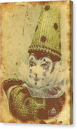 Performers Canvas Print - Vintage Circus Postcard by Jorgo Photography - Wall Art Gallery