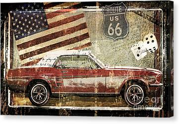 Vintage Classic Auto Canvas Print by Mindy Sommers