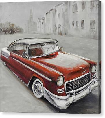 Vintage Classic Car Canvas Print by Atelier B Art Studio