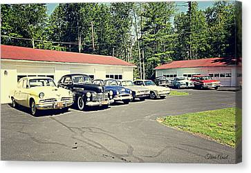Canvas Print featuring the photograph Vintage Classic Cars by Trina Ansel