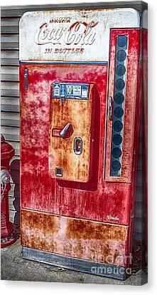 Vintage Coca-cola Machine 10 Cents Canvas Print