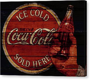 Prime Canvas Print - Vintage Coca Cola Sign by Brian Reaves