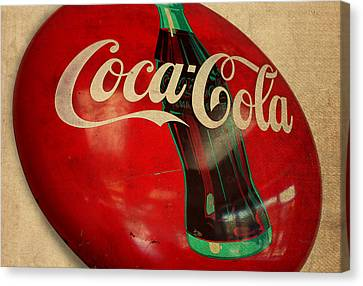 Vintage Coca Cola Sign Canvas Print by Design Turnpike