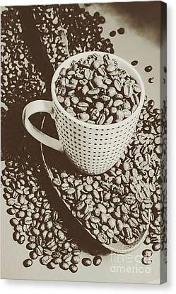 Canvas Print featuring the photograph Vintage Coffee Art. Stimulant by Jorgo Photography - Wall Art Gallery