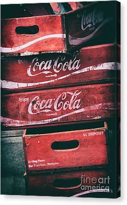Vintage Coke Crates Canvas Print