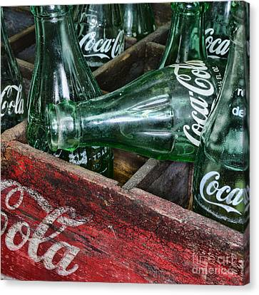 Vintage Coke Square Format Canvas Print