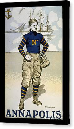 Vintage College Football Annapolis Canvas Print by Pd
