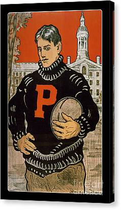 Game Canvas Print - Vintage College Football Princeton by Edward Fielding