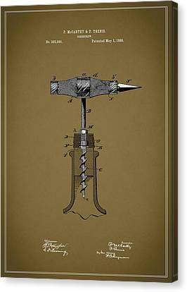 Sherry Coke Canvas Print - Vintage Corkscrew Design by Mark Rogan